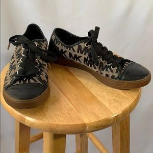 Michael Kors Black and Brown Sneakers